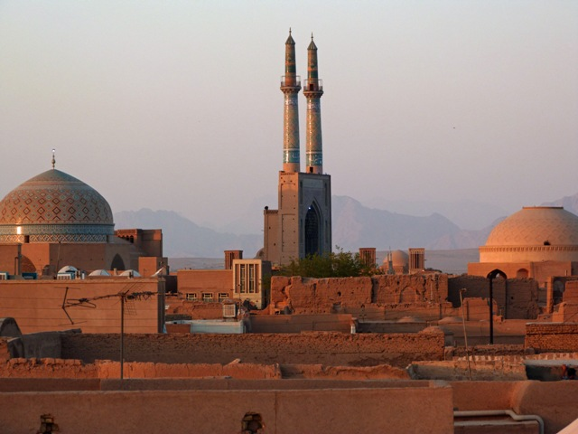 Vista panorámica de Yazd