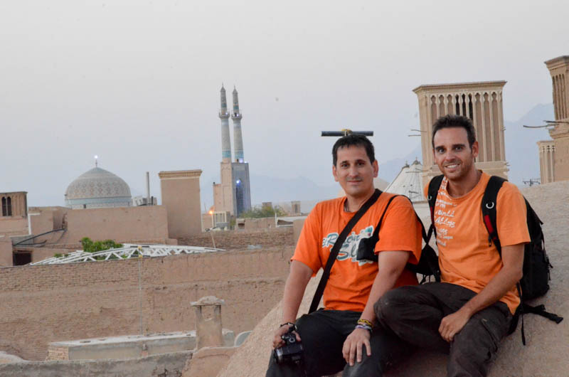 Isaac y yo en Yazd