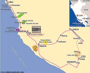 Mapa de Huacachina