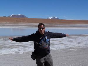 En una de las Lagunas altiplánicas de Bolivia camino a Uyuni