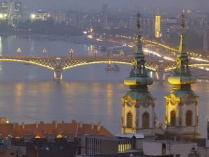 Foto nocturna de Budapest