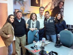 Con el equipo y los colaboradores del programa de Radio Marca Paralelo 20