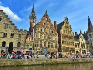 Graslei de Gante (Flandes, Bélgica)