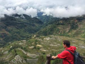 Sele en las terrazas de arroz de Yuanyang (Yunnan, China)