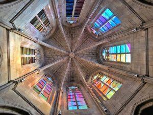 Cúpula de la torre del baptisterio en la Seu de Manresa (Quév ver en Manresa)