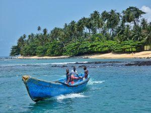 Bote en Santo Tomé y Príncipe