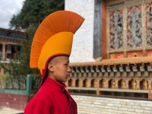 Monje budista en Bután
