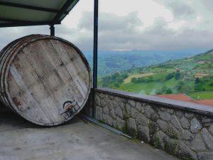 Vistas de Lavandera (Gijón) desde Casa Trabanco